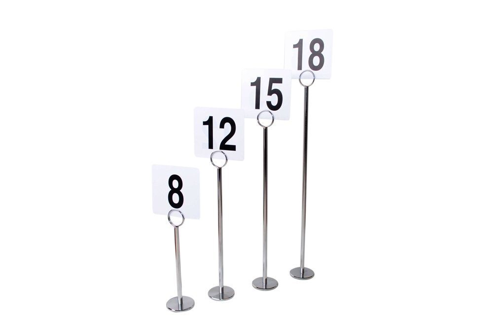 New Star 12 Pc Table Number Holder Table Card Holder Table Number Stand Place Card Holder 8'' by New Star Foodservice (Image #3)