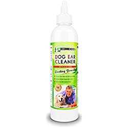 Vet Recommended Dog Ear Cleanser - With Natural Aloe Vera for Dog Ear Infection. Perfect Dog Ear Cleaner For Yeast Infection and Bacteria - Made in USA (8oz/240ml)
