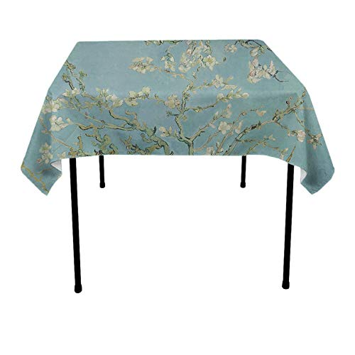 (JACINTAN Square Tablecloth Table Cover - Waterproof/Spill Proof/Stain Resistant/Wrinkle Free/Heavy Duty - Great for Banquet, Parties, Dinner, Kitchen (70