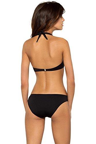 Lorin Bikini Monocolorato Pezzi Due Imbottite 7 UE Unita Liscio Nero Fabbricato L2129 In Coppe Tinta wB1qEUrYwn