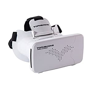 """3D VR Headset,Topmaxions 3D Virtual Reality Mobile Phone 3D Movies for Apple Phone 6s/6 plus/6/5s/5c/5 Samsung s5/s6/note4/note5 and Other 3.5""""-6.0"""" Cellphones from Topmaxions"""