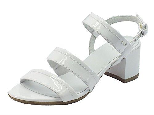 Nero Giardini P717611d T. Diamond Bianco - Sandalias de vestir de Piel para mujer Bianco