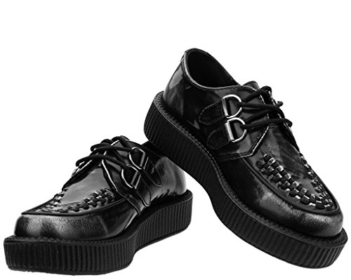 Leather Grey Viva u Box T Shoes Creeper k Low tqYpwn7X