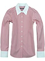 Liz Claiborne Womens Iron Free Button Front Stripe Shirt