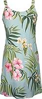 RJC Women's Breathtaking Island Getaway Short Hawaiian Bias Cut Slip Dress