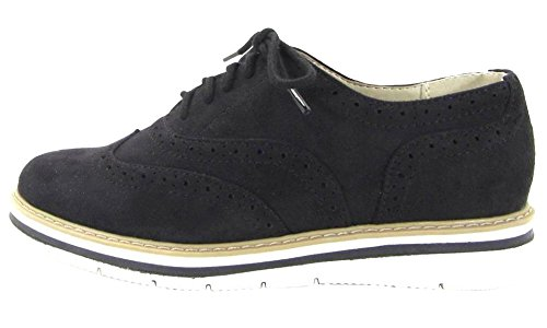 City Classified Women's Wing Tip Lace-Up Oxford Platform Shoe