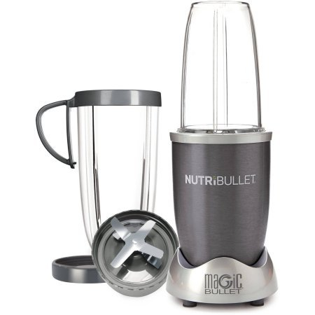 Magic Bullet NutriBullet Nutrition Extraction Mixer/Blender With Two Stay-Fresh Resealable Lids , As Seen on TV, Gray,State-of-the-art Magic Bullet system (Nutribullet As Seen On Tv)