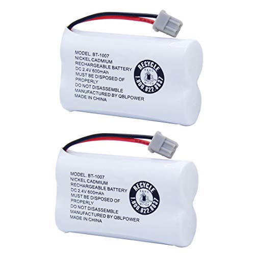 (BT1007 BT-1007 BBTY0651101 Rechargeable Battery Compatible with Uniden BT904 BT-904 BT1015 BBTY0460001 BBTY0510001 BBTY0624001 HHR-P506 HHR-P506A Cordless Phone (2 Pack BT1007 Batteries) )