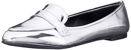 Loafer Qupid Women's On 61 Swirl Silver Slip qwfA78w