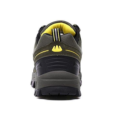 Showlovein Herren Trekking Wanderschuhe Sports Outdoor Low-Top Gleitsicher Stiefel mit Perfekter Dampfung für Herren & Damen 36-45 Grun