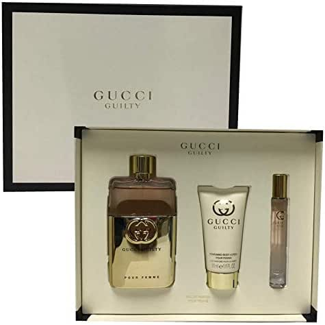 Gucci Guilty Pour Femme Women Perfume Gift Set EDP Spray 3.0 Oz