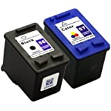 Remanufactured Ink Cartridge Replacement for HP 56 and HP 57 (1 Black 1 Color 2 Pack)