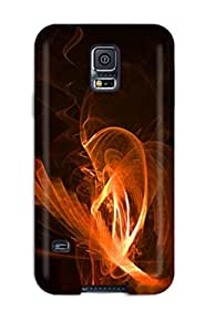 ZippyDoritEduard Case Cover Protector Specially Made For Galaxy S5 Red Smoke Fractal Fractals Light Flame