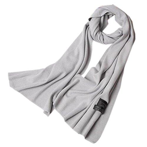 夕暮れディレイ合理化女性のソフトスカーフ快適な暖かいスカーフネッカーコフネックウォーマー、ライトグレー