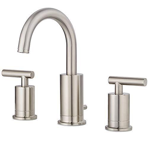 Pfister LG49NC1K Contempra 2-Handle 8 Inch Widespread Bathroom Faucet in Brushed Nickel, Water-Efficient Model ()