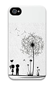 iPhone 4S Case Dandelion 2 Pattern Hard Back Skin Case Cover For Apple iPhone 4 4G 4S Cases