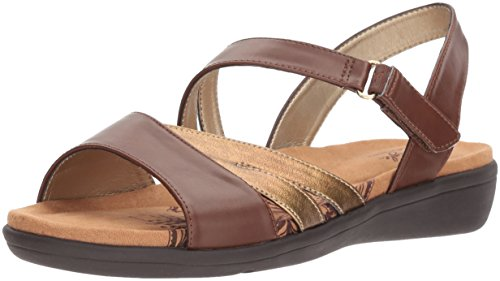 (Soft Style by Hush Puppies Women's Pavi Sandal mid Brown Vitello 09.5 M)