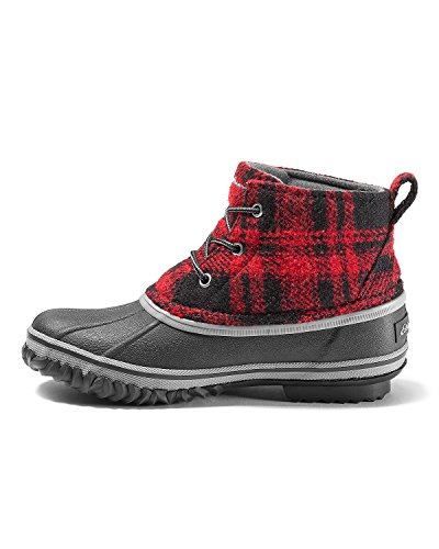 Eddie Bauer Womens Hunt Pac Mid Boot - Fabric Red YuxPYG