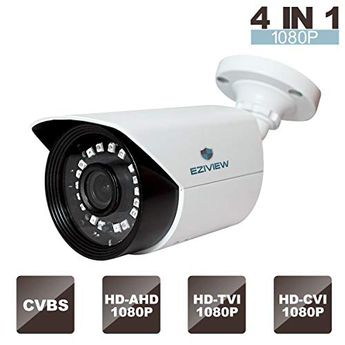 Security Camera 1080p 4-in-1 HD TVI/AHD/CVI/CVBS Bullet Weatherproof Analog Camera Outdoor Night Vision