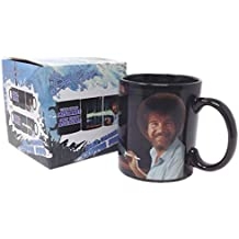 Bob Ross Heat Sensitive Change Painting Coffee Mug There are no Mistakes Only Happy Accidents 16 oz