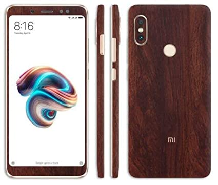 new product 972de 2d041 Vcare GadGets Look Like iPhone X Mobile, Dark Wood Skin for Redmi Note 5  Pro Apple iPhone Style for Back & Front Full Body