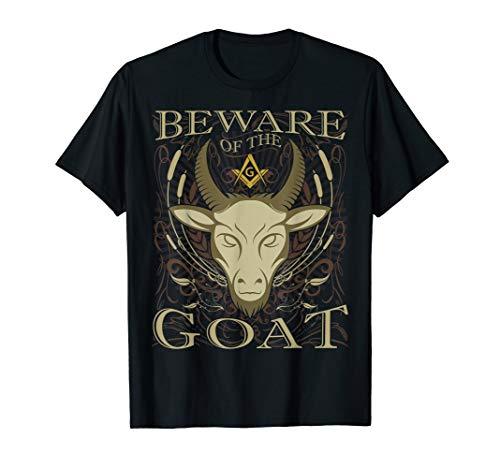 Masonic Shirt Beware Of The Goat Funny Freemason T-Shirt (Masonic Shirts)