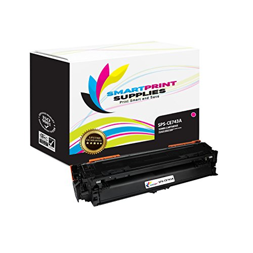 Smart Print Supplies CE743A 307A Magenta Compatible Toner Cartridge Replacement for HP Color Laserjet Pro CP5225DN CP5225N Printers (7,300 Pages)