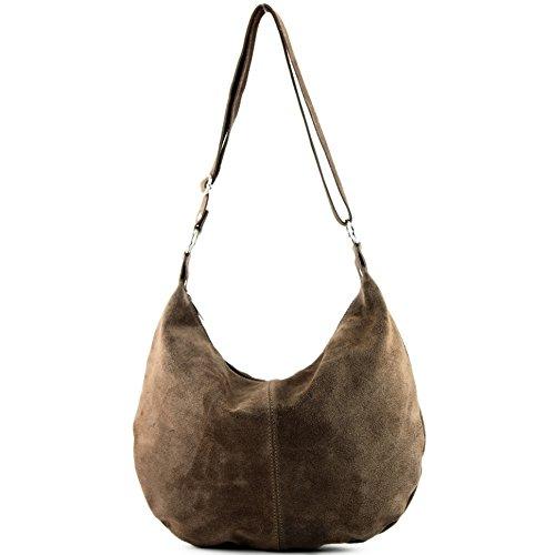 Sac à main italien sac à bandoulière cabas femme en cuir véritable sac T02 Stone