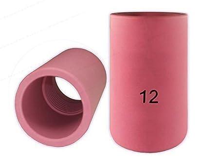 1 O 10 CERAMICA Bocchettone GAS lenti Gas VERSIONE PER SR17 SR18 SR26 HP17 WP17 sr-17 TIG/WIG BRUCIATORE - 10-pc, 11,2mm Ø 2mm Ø K.A.
