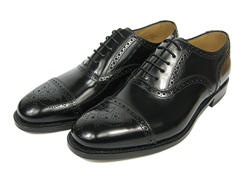Loake 201B, Herren Klassische Halbschuhe, schwarz, (B Black Polished Leather), EU 48,5, (UK 13)