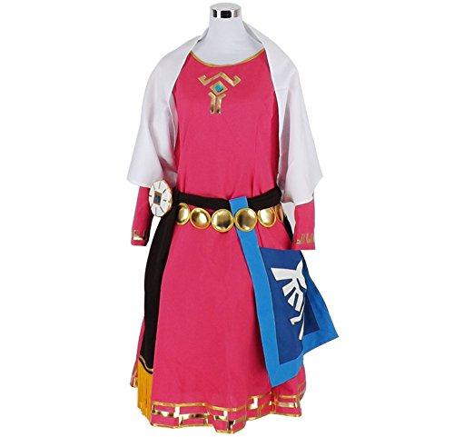 HOLRAN The Legend of Zelda Princess Zelda Childhood Cosplay Costume (Girls-S, Red) -