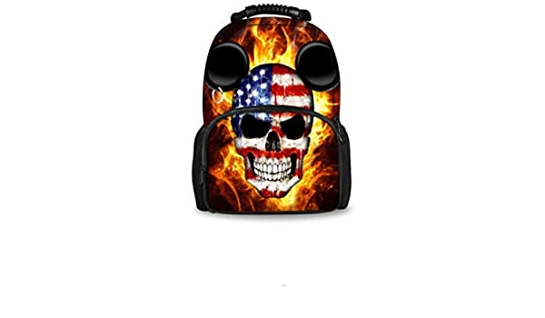Amazon.com: FORUDESIGNS Cool 17 inch Men Backpack Hip Hop Punk Skull Printing College Boys School Bags,Casual Laptop Travel Bagpack Mochila (BM4): Computers ...