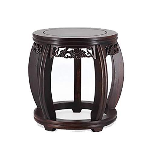 CCMMLLO Mahogany Drum Stool Guzheng Stool Antique Chinese Small Stool Round Retro Wooden Home Solid Wood Coffee Table - Chinese Antique Table Furniture Round