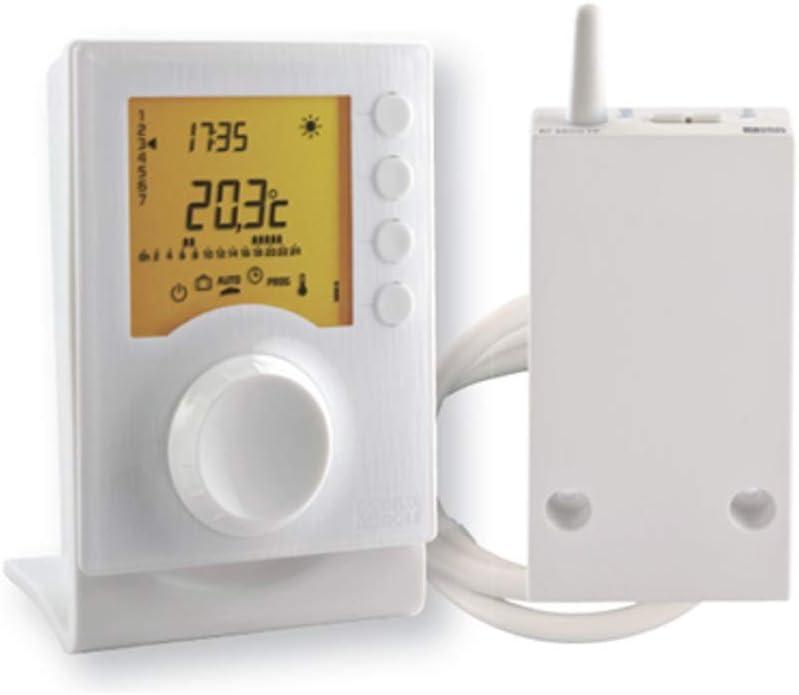 Delta dore 6053007 Termostato Programable Radio Calefacción, Blanco
