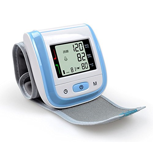 Price comparison product image ZeHui Automatic Wrist Digital Blood Pressure Monitor Heart Beat Meter with LED Display Blue