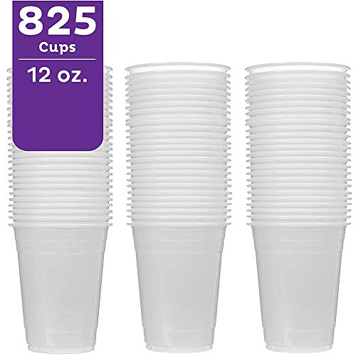A World Of Deals Y1214 Translucent Plastic Cold, 12 oz. (825 Case) -Bulk Party Perfect Size for Beer Packed 15 55 Cups per Bag, 12-14 - Ounce 14 Cup Translucent