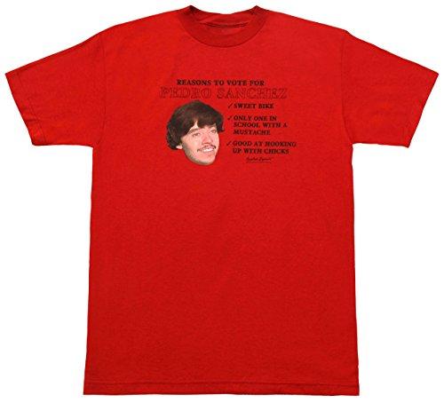 Napoleon Dynamite Vote for Pedro Sanchez T-shirt Red (Napoleon Dynamite Vote For Pedro)