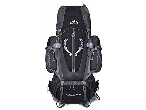 Osize 耐久性のある 大容量プロフェッショナル登山バッグ85L防水サスペンションブラケットアウトドア登山バッグ(ブラック) B07FTCBWQB