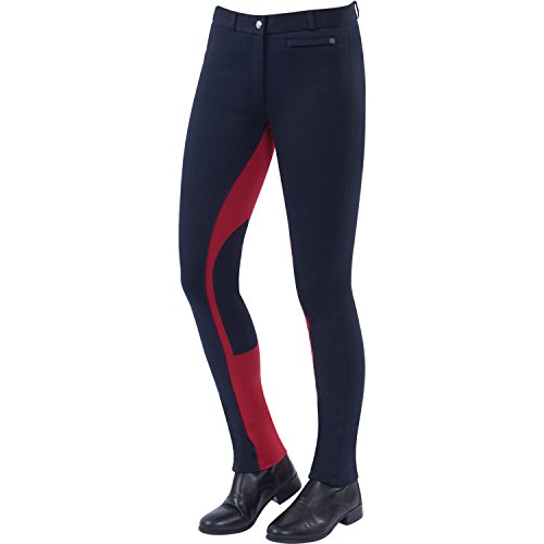 Dublin Supa-Fit Euro Seat Pull On Jodhpurs Childs Navy/Red rxx52HPN