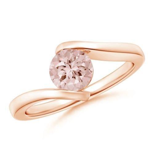 Bestselling Morganite Engagement Ring on Sale: 1 Carat Morganite Solitaire...