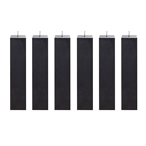 Dot Unity Candle Set (Mega Candles 6 pcs Unscented Black Square Pillar Candle | Hand Poured Premium Wax Candles 2