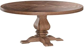 Amazon Com Coaster Home Furnishings Florence Round Pedestal Dining Table Rustic Smoke Tables
