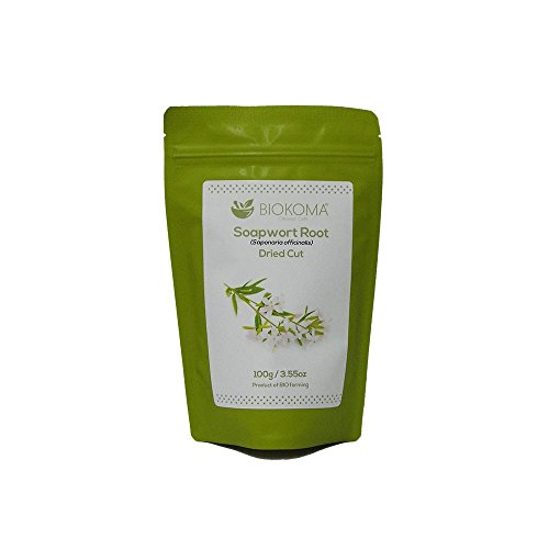 100% Pure and Natural Biokoma Soapwort Dried Root 100g (3.55oz) in Resealable Moisture Proof Pouch