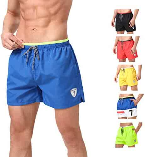 f05da236ad060 Lapulas Mens Boys Swim Trunks Beach Board Shorts Bathing Swimsuits Quick Dry  with Mesh Lining