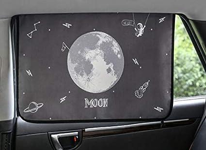 Sch/ützt vor Sonne Blendung und Hitze Sonnenschirm Displayschutzfolie Magnetverschluss Auto Sonnenschutz Vorhang f/ür Seite Fenster f/ür Baby Kinder Kinder Moon