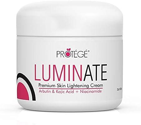 Skin Lightening Cream - Luminate- 100% Natural Skin Bleaching for Underarm, Body, Face, Intimate and Sensitive Areas - Whitening with Arbutin + Kojic Acid + Niacinamide for Women and Men - 2oz
