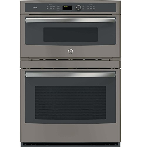 """GE Profile Series 30"""" Built-In Single Electric Convection Wall Oven with Built-In Microwave Slate PT7800EKES"""