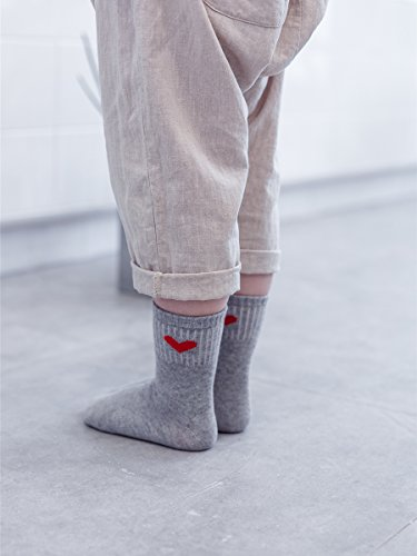 PenGreat Kids Toddler Big Little Girls Fashion Cotton Crew Love Pattern Socks 5 Pairs by PenGreat (Image #7)