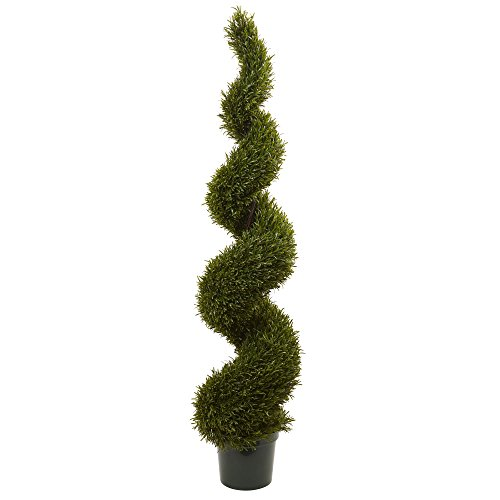 (Nearly Natural Rosemary Spiral Indoor/Outdoor Tree, 6')