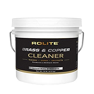 Rolite Brass & Copper Cleaner (10lb) Instant Cleaning & Tarnish Removal on Railings, Elevators, Fixtures, Hotels, Cruise Ships, Office Buildings